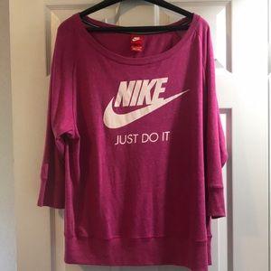 Nike pink long sleeve shirt